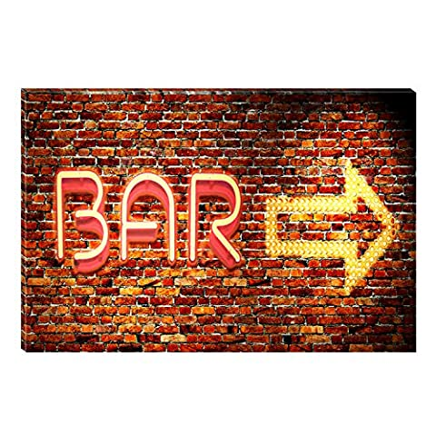 Startonight Canvas Wall Art Bar Sign Direction Abstract, Dual View Surprise Artwork Modern Framed Ready to Hang Wall Art 100% Original Art Painting 23.62 X 35.43 (One Direction Huge Posters)
