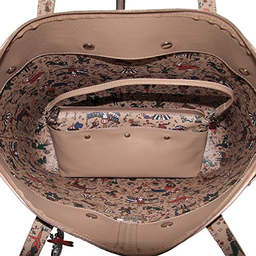 Piero Guidi borsa donna shopper reversibile con baguette interna Magic Circus Be Magic Reversibile beige - 210913089.51