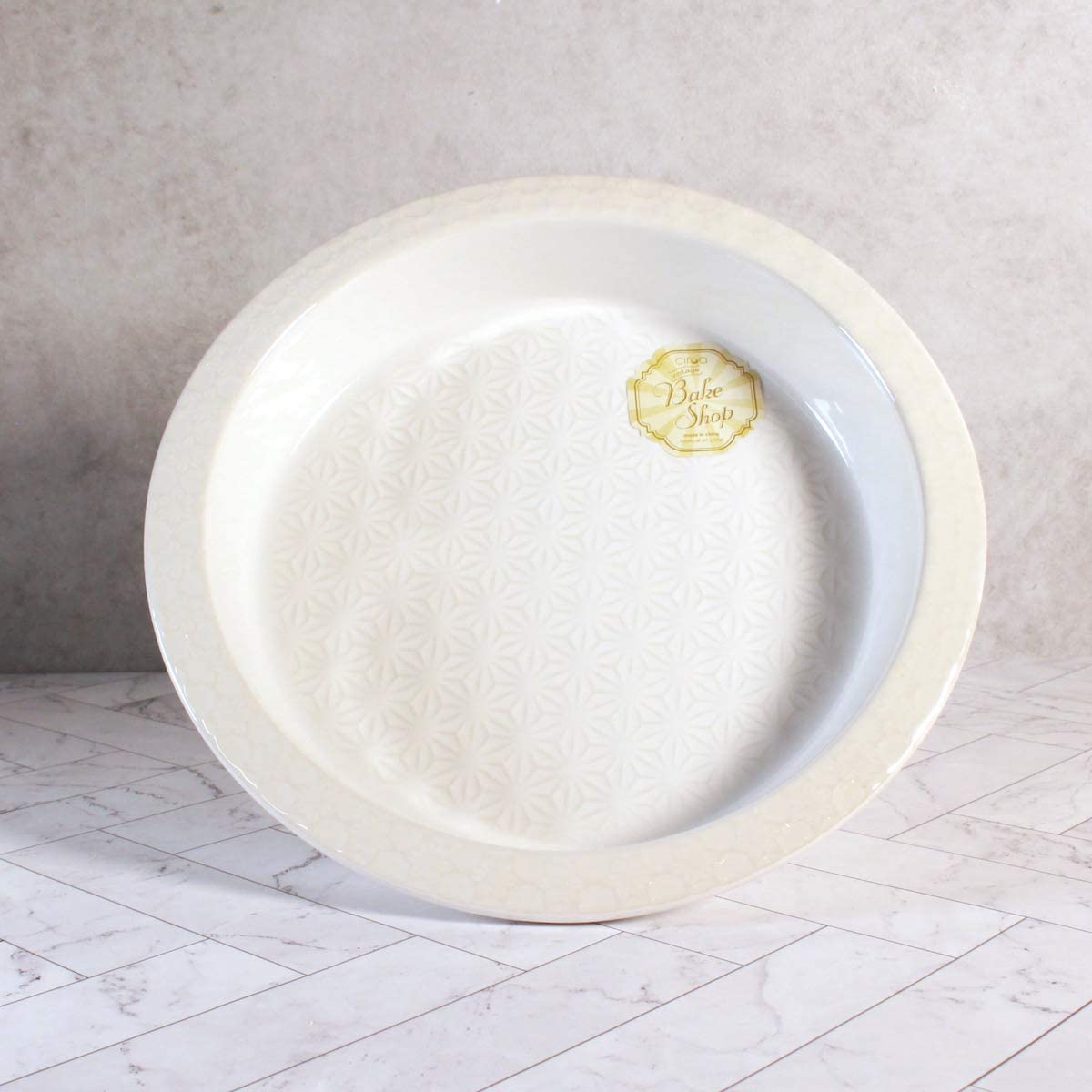 9 Inch Deep Pie Plate Perfect for Baking Pies /& Quiches or Serving White Ceramic Pie Dish by CIROA