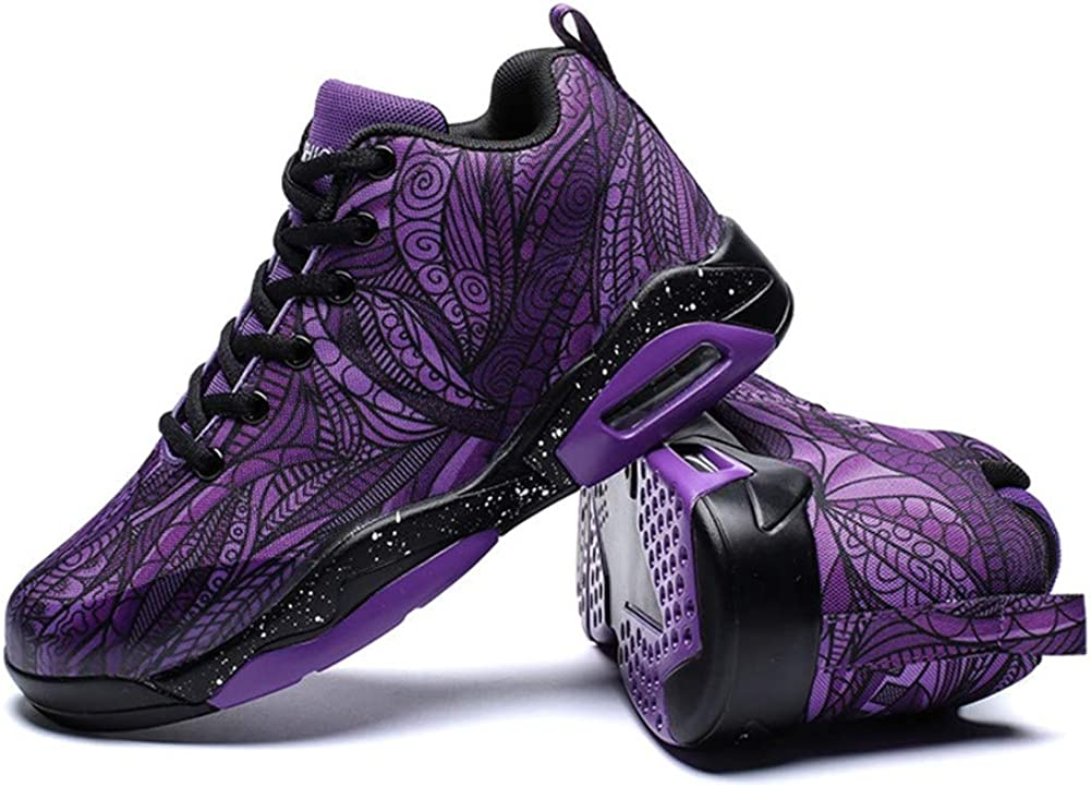 Mens High-Top Basketball Shoes Fashion Casual Breathable Running Sports Shoes Shock-Absorbing Non-Slip Athletic Shoes