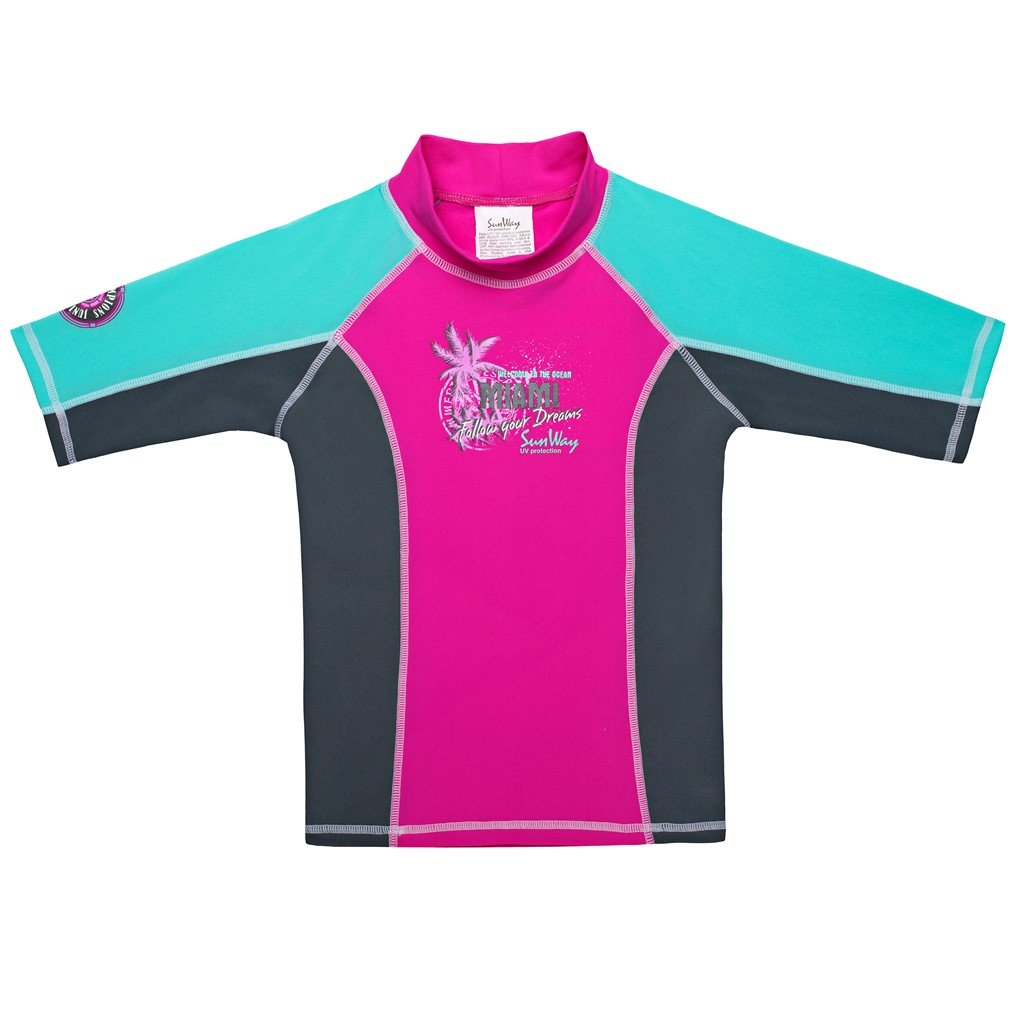 SunWay Rash Guard Girls Shirt swimsuit UPF 50 UV Sun Protective
