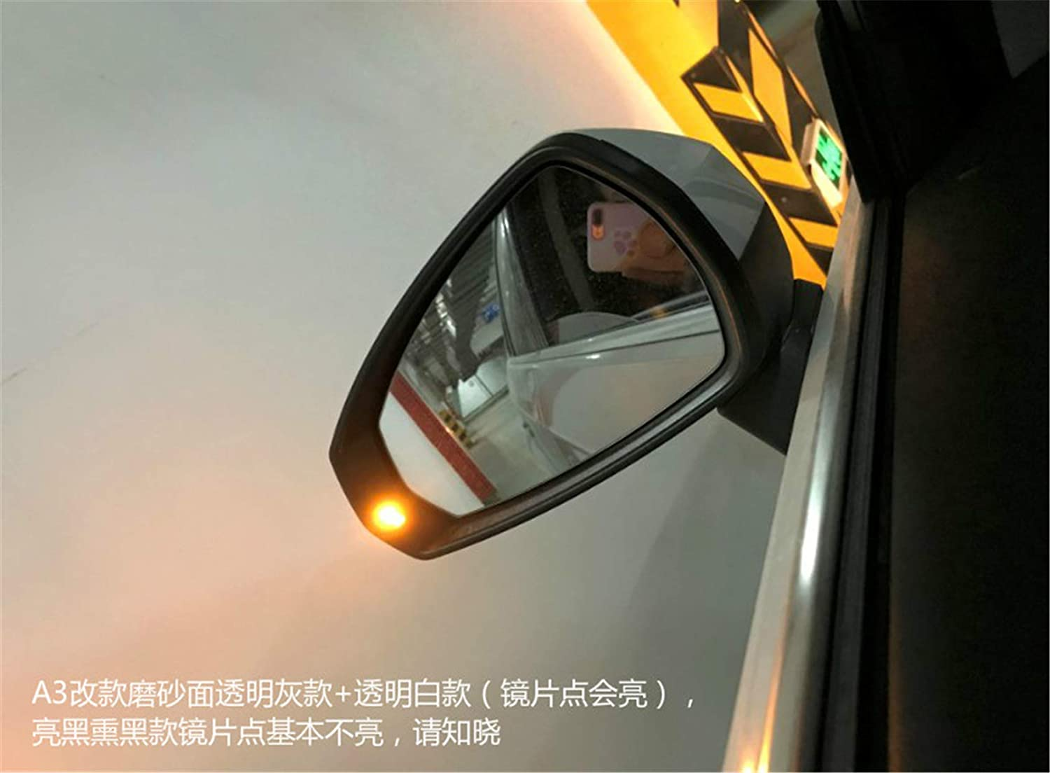 HDX Rear View Mirror Dynamic Turn Signal LED Light Indicator for Audi A3 S3 RS3 8V 3th 2013-2019 LBF730 Crystal