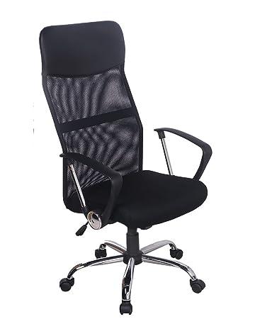 amazon com merax mesh adjustable chair black home kitchen