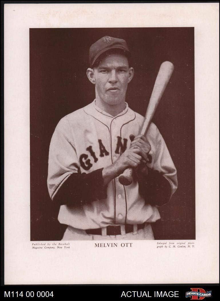 1916 die Baseball Magazine Company # 14 Mel Ott neu York Giants (Card) Dean'S Cards 5 - Ex Giants