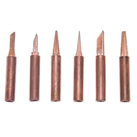 Starnearby 6 piezas de punta de hierro de cobre puro 900 m – soldador de soldadura