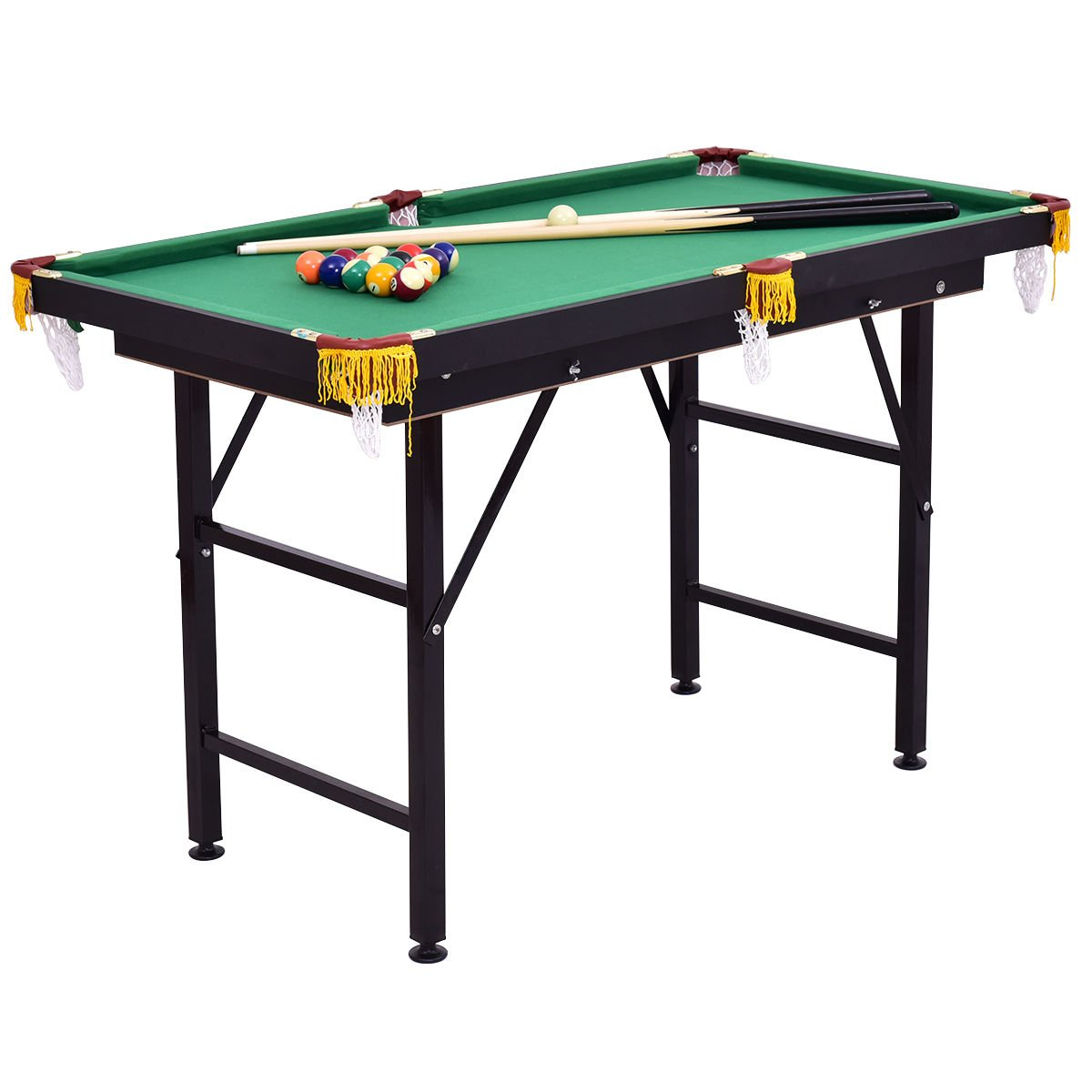 Costzon 47'' Billiard Table Pool Table with Cues, Triangle and Chalk