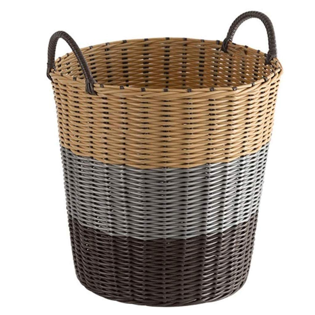 ZLMMY Storage Basket-Woven Baby Laundry Basket for Blankets Toys Storage Basket with Handle Comforter Cushions Storage Bins Thread Laundry (Color : A, Size : XXL(3446H45cm)) by ZLMMY