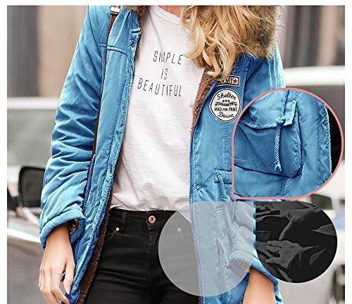 Coat Outwear Coupe En Causal Paise Hiver Veste Femme Chaud Longues kOXiZPu