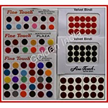 Multi-color Velvet Dot Bindi Tattoo 130 Assorted Colors Stickers Adhesive Body Jewelry By Golden India P52