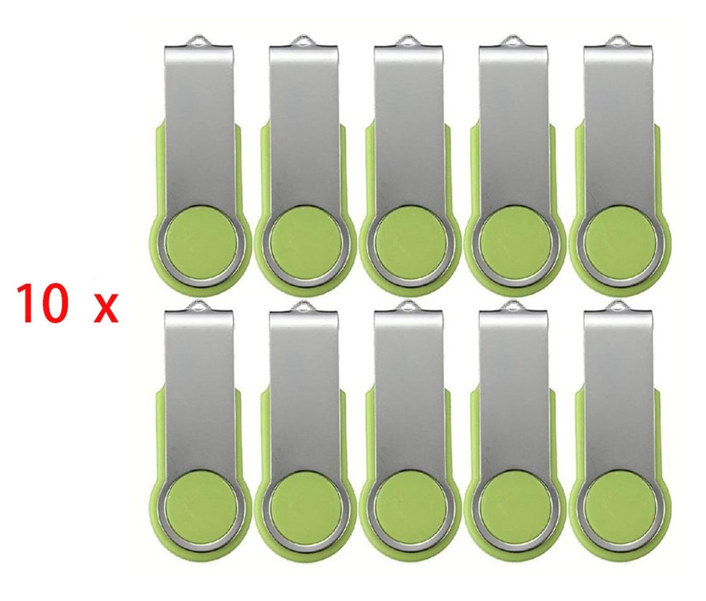 FEBNISCTE Swivel Green 100pcs 2GB Pendrive U Disk