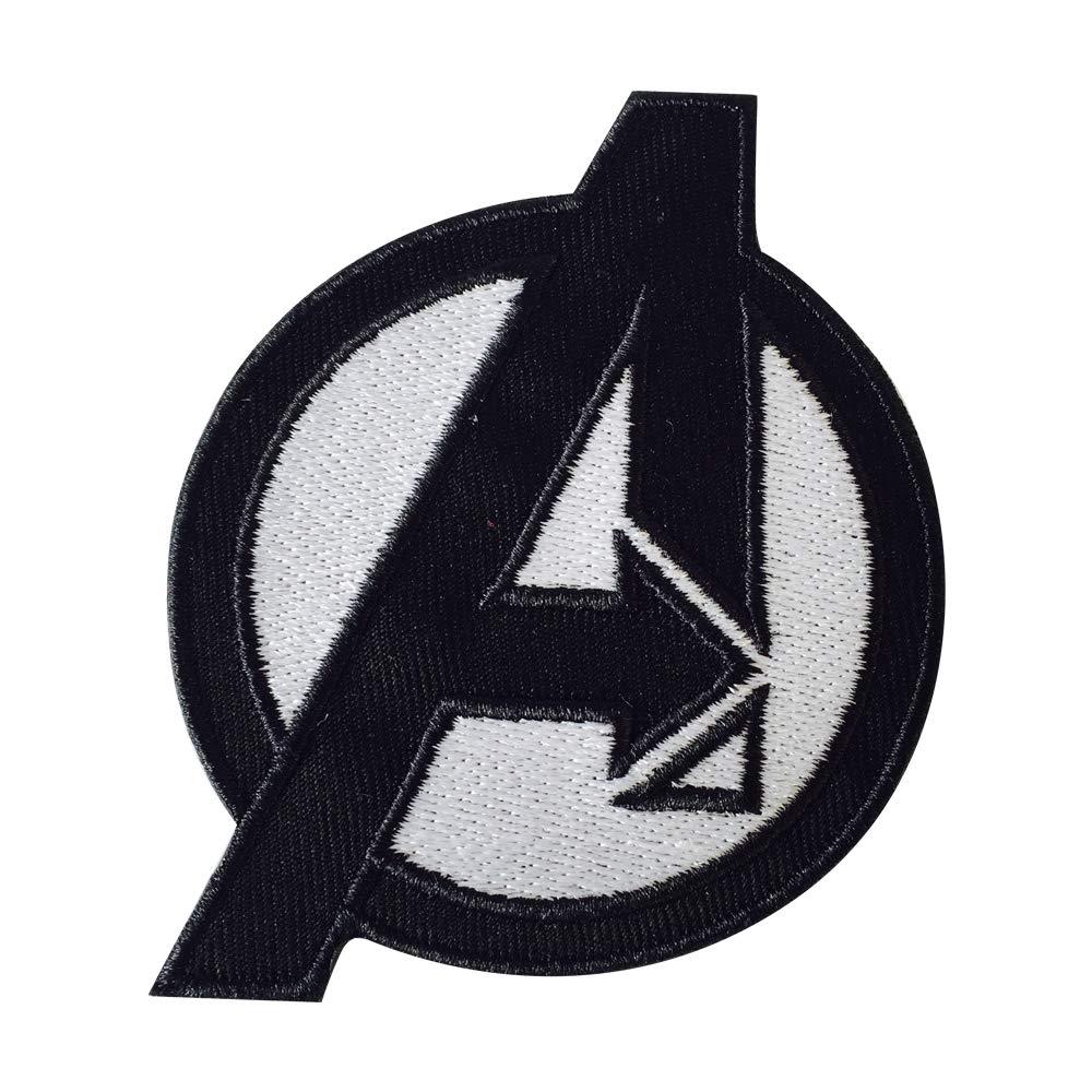 Patch zum Aufn/ähen oder Aufb/ügeln Avengers-Logo 7,5 x 9/cm Motiv Gr/ö/ße