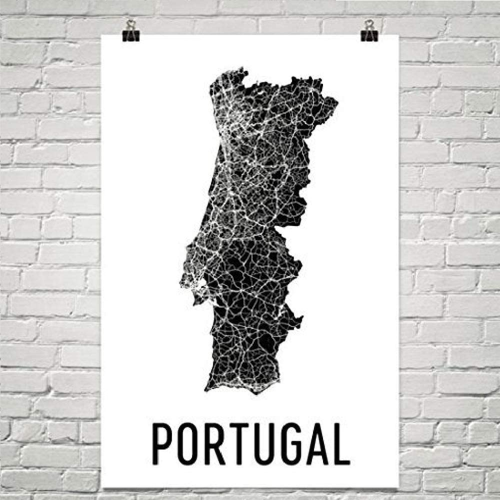 Lisbon Art Portuguese Wall Art,Wooden Portugal Map New Bedford Decor Reclaimed Wood Art Country Outline Portuguese Gift Portugal Mosaic