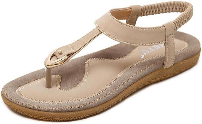 Sandalen Zehentrenner flache Schuhe aus Jeans Vintage Style dunkelblau Gr 37