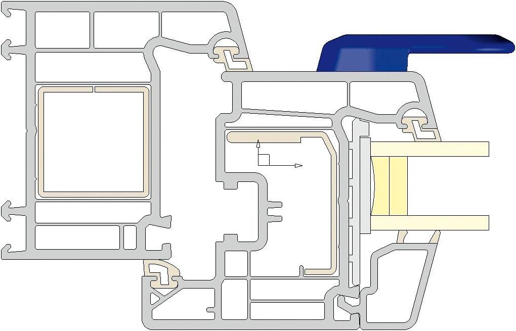 VE: 1 St/ück Balkont/ürgriff slim-line schiefergrau