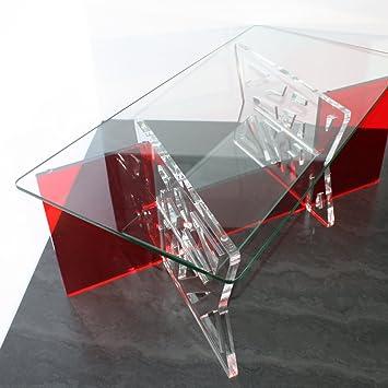 Plastic Art Table Basse En Plexi Et Plateaux En Verre Trempe