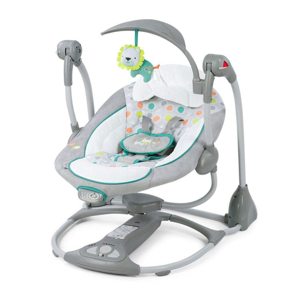 Yyqtyeyy Baby Rocking Chair- Reclining Chairs Soothing Vibration Baby Rocking Chair Newborn Folding Music Electric Swing Baby Appease Shake Chair BB Cradle Chair (Color : C) by Yyqtyeyy