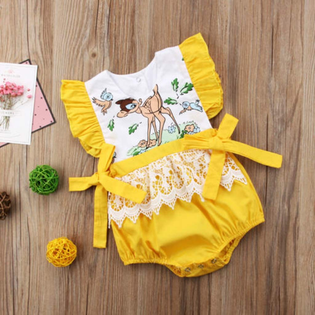 Cute 0-24M Newborn Kids Baby Girls Fairy Lace Romper Jumpsuit Outfit Clothing