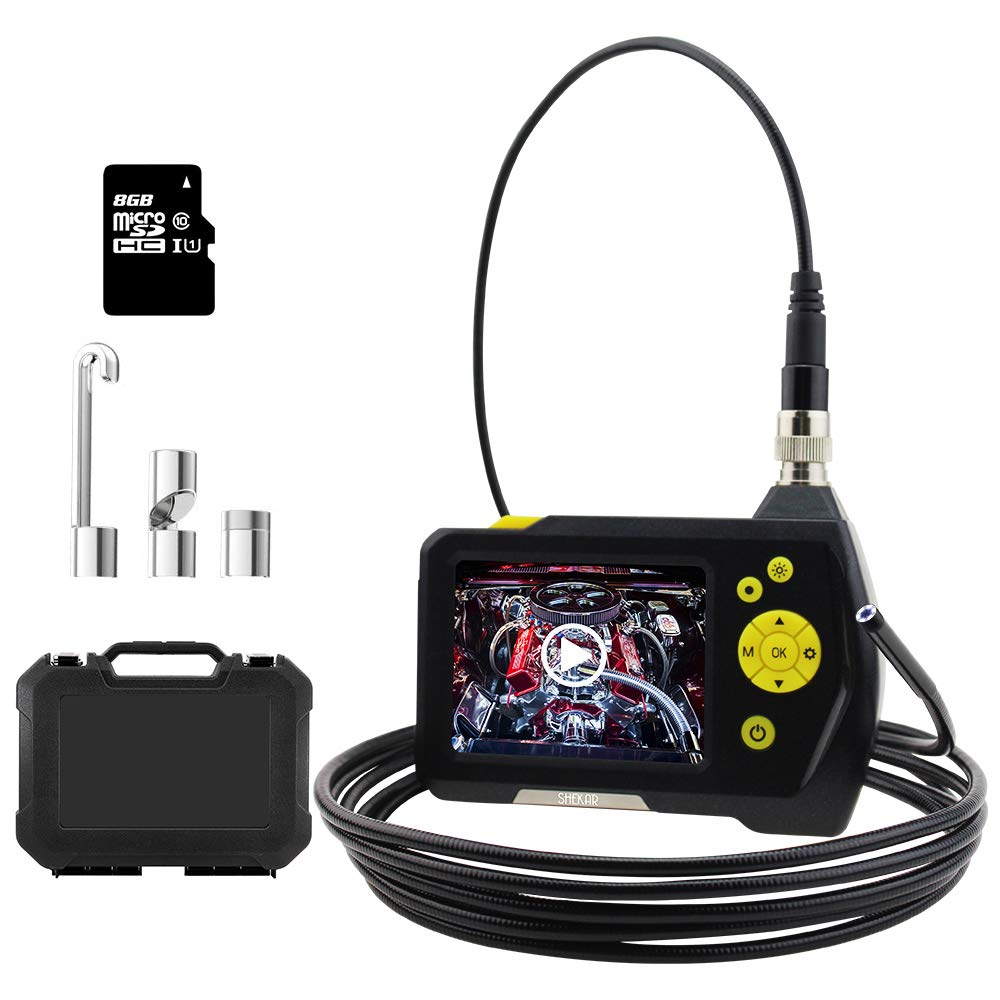 Endoscope Camera 1080P HD Borescope Inspection Camera Pipe, 3.5inch HD LCD Screen with 0.21inch Lens, Waterproof 9.8ft Snake Camera, 2600mAh Lithium Battery Wall Inspection Camera+Tool Box