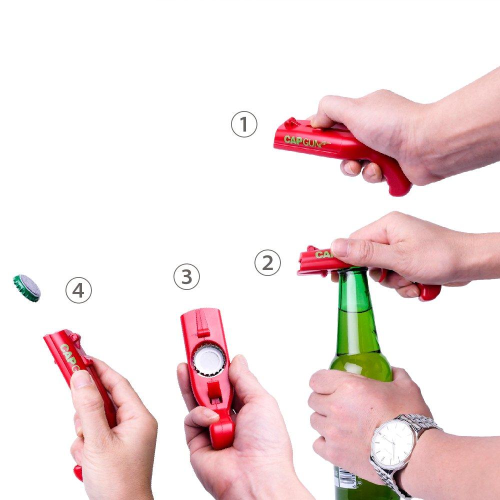 Cap Gun Launcher Shooter Bottle Opener,Beer Openers - Shoots Over 5 Meters (Gray) by Frola (Image #5)