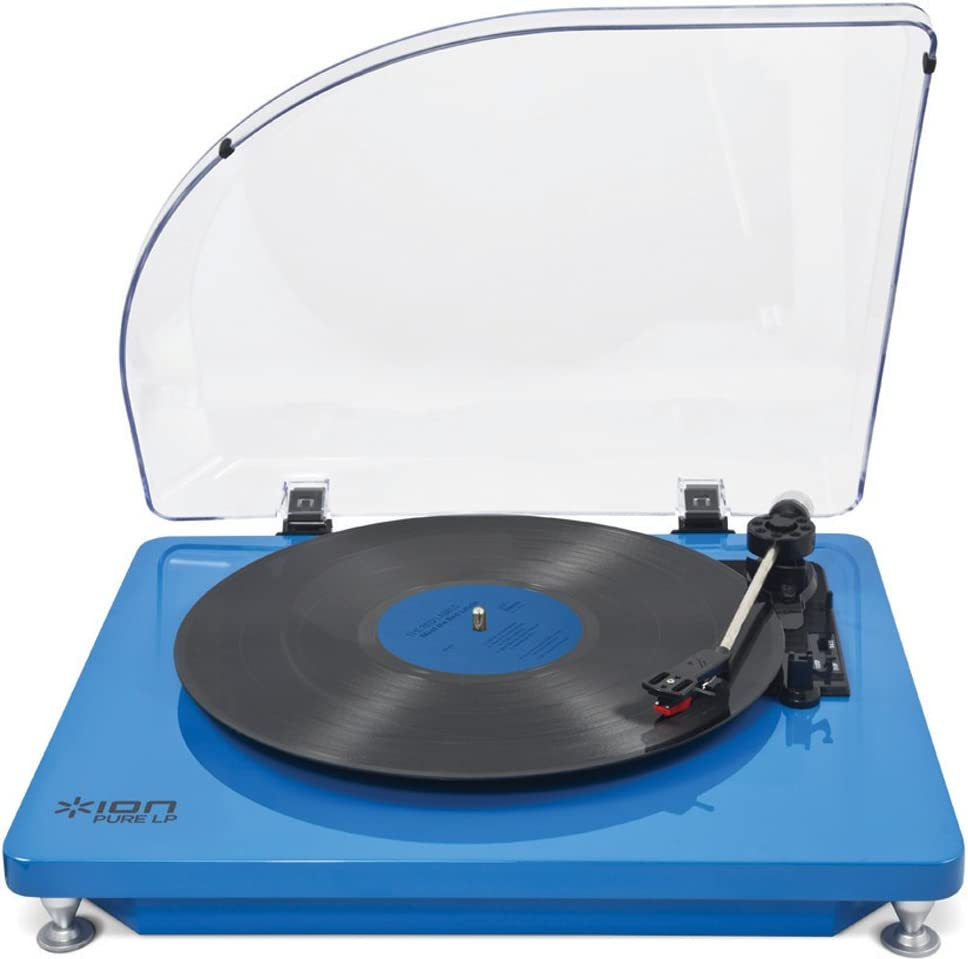 ION AUDIO iT51B Pure LP – Tocadiscos (USB), color azul: Amazon.es ...