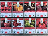 Heirloom Tomato Seeds Assortment - Eight Organic and Non-GMO Varieties: Brandywine, Cherokee Purple, Black Krim, Green Zebra, Amish Paste, Moskvich, Yellow Brandywine, Matt's Wild Cherry