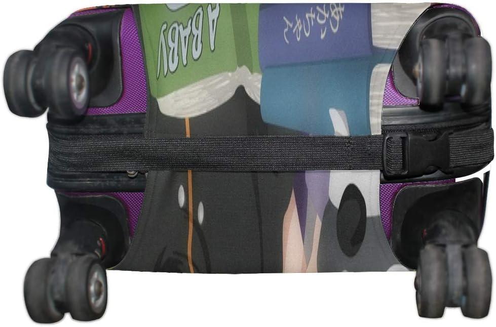 Maxm Naruto Last Hinata Hinata Hyuga Uzumaki Naruto Pattern Print Travel Luggage Protector Baggage Suitcase Cover Fits 18-21 Inch Luggage
