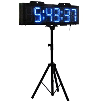 Amazon.com : Outdoor LED Race Timing Clock Blue Color Digits 6 ...