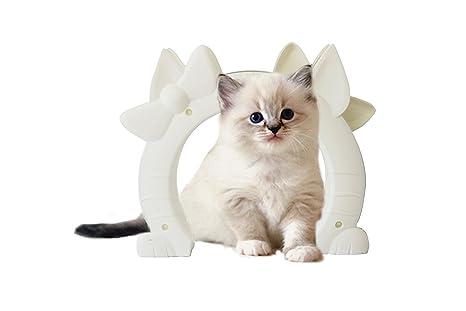Vjoy Puerta Interior para Mascotas para Gatos Grandes o Perros pequeños libremente Dentro y Fuera,