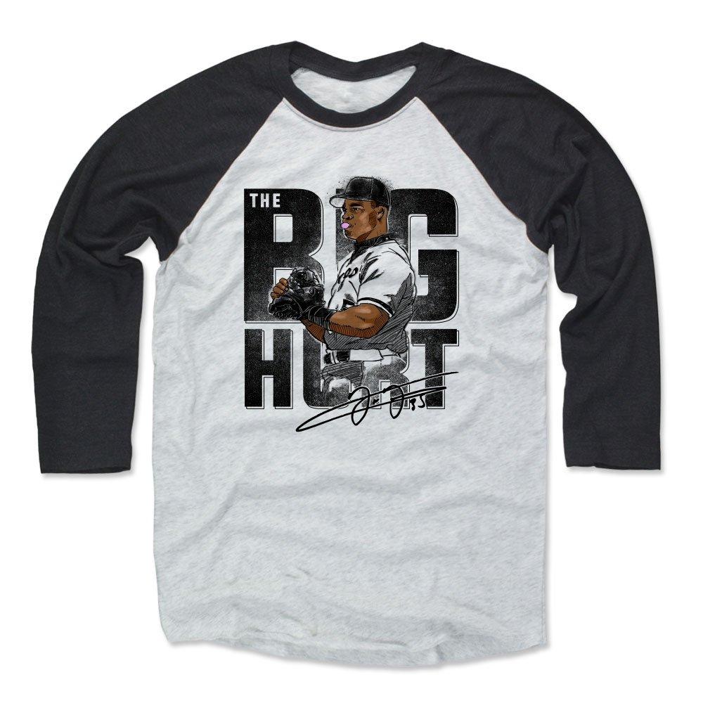 500レベルFrank Thomas Baseball Teeシャツ – ヴィンテージシカゴ野球ラグランシャツ – フランクトーマスバブル B07DYFPRVG Black / Ash X-Small