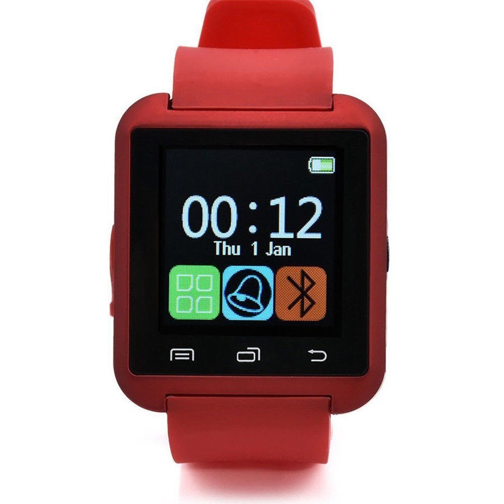 Refaxi U8s Smart Wrist Watch Mate Fitness Sports Bluetooth for Android iOS Samsung HTC (Red)
