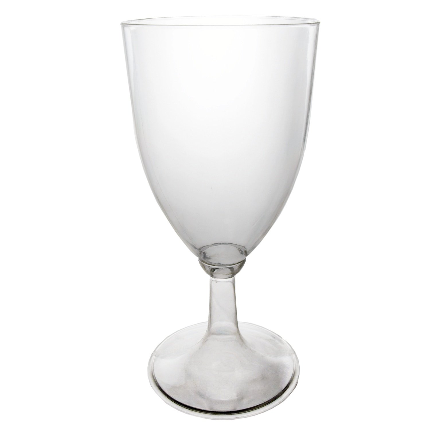 Amazon.com: Party Essentials Hard Plastic 1 Piece Wine Glass, 8 Ounce  Capacity, Clear (Case Of 48): Industrial U0026 Scientific