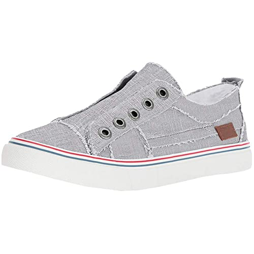 92c039c3101f5 Women's Casual Canvas Sneakers Fashion Slip-on Shoes Low Top Flat Sneakers