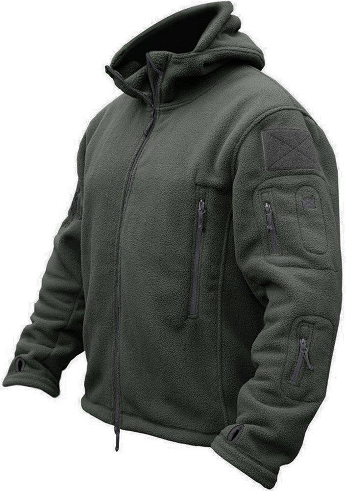 TACVASEN Men's Tactical Fleece Jacket (Medium,Gray)
