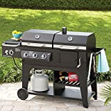 MM Gas & Charcoal Hybrid Grill BBQ Cooking Cast Iron Stainless Steel Party Heavy Duty