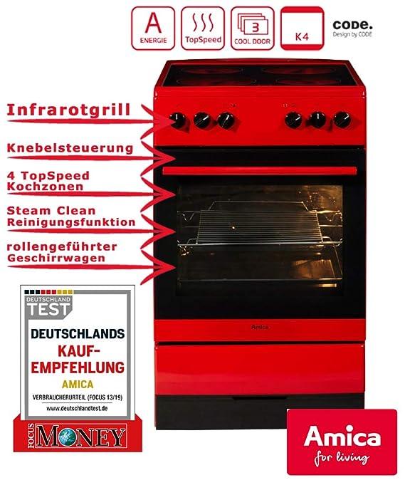 Amica SHC 11605-MA-1 R Stand Horno/50 cm/independiente/rojo ...