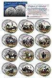 TRIPLE CROWN WINNERS Thoroughbred Horse Racing JFK Half Dollar U.S. 12-Coin Set