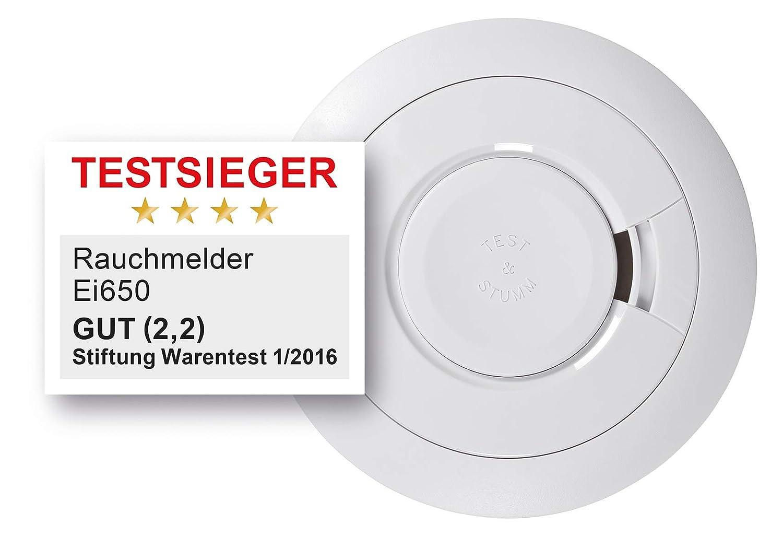 Ei Electronics Ei-650 - Juego de detectores de humo (7 unidades, batería de litio), diseño redondo, color blanco: Amazon.es: Bricolaje y herramientas