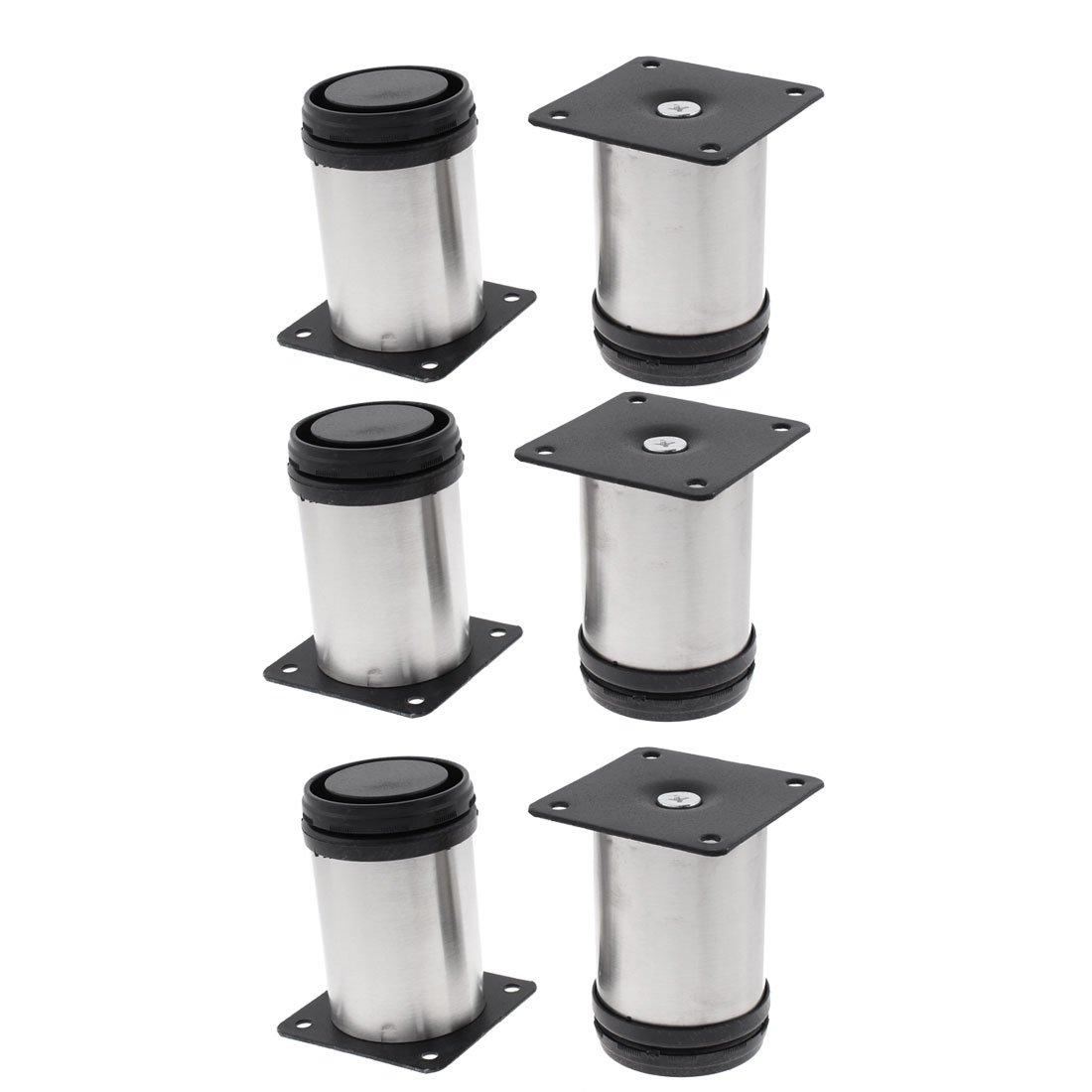 uxcell Kitchen Furniture Sofa Cabinet 50mm x 80mm Adjustable Plinth Leg 6pcs