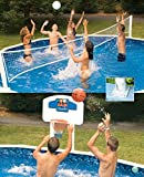 Pool Jam Combo Basketball and Volleyball Above Ground Swimming Pool Game