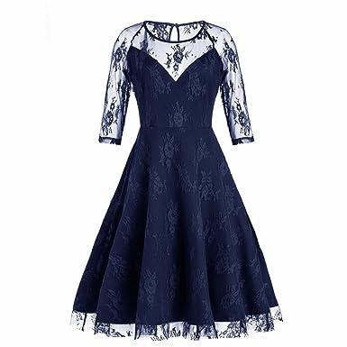 Sannysis Abendkleid Cocktailkleid Partykleid Rockabilly Kleid Frauen ...