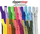 Zipperstop wholesale - 48pcs YKK#3 Nylon Coil Zippers Tailor Sewing Tools Garment Accessories Zipper16 Color Bonus 4 neon colors (Length 9 inch)