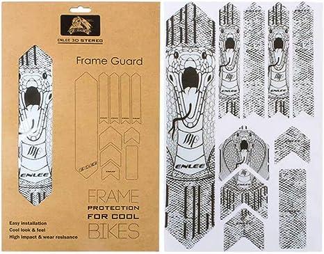 enlee - Protector de Marco 3D para Proteger tu Bicicleta de arañazos y Salpicaduras de Agua, Apto para MTB/DH/FR/XC: Amazon.es: Deportes y aire libre