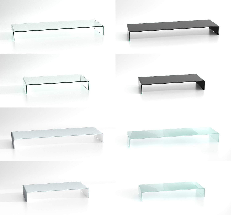 DURATABLE® TV Glasaufsatz Glastisch LCD Tisch Aufsatz Monitorerhöhung Fernsehtisch Glas Schrankaufsatz Aufsatz Fernseher Erhöhung Klarglas 550x250x110