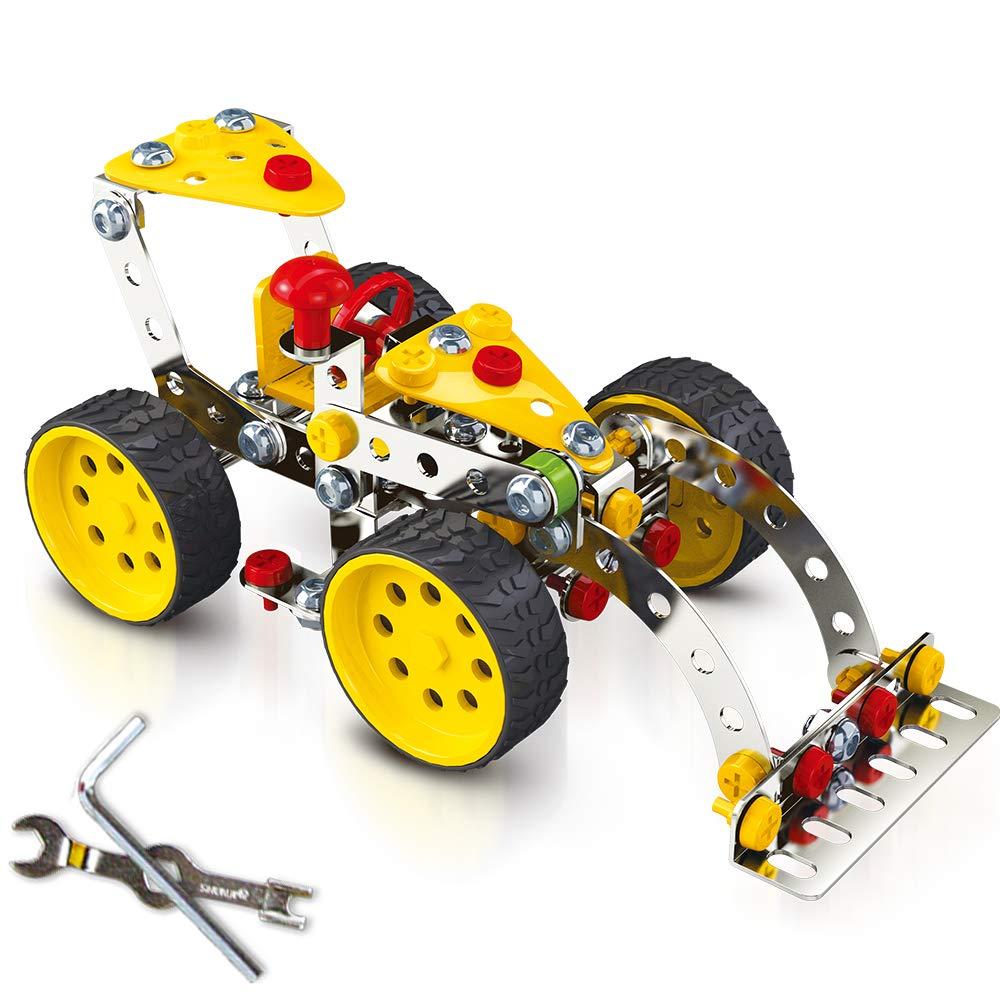 Bulldozer Model Construction Engineering Toy Set JOTA Creative Alloy Building Blocks Toy Set 146PCS boy Girl 5 6 7 8 9 Year Old Toy Gift Erector STEM Architectural Educational Toy Set