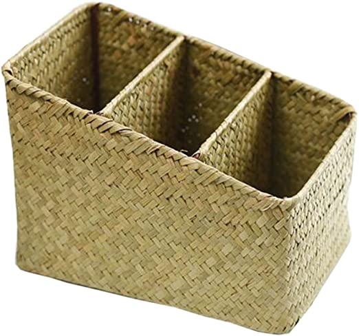 Estilo 2] Regalo de la caja de la cesta del hogar de la caja de almacenamiento de la paja de mimbre: Amazon.es: Hogar