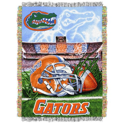 - The Northwest Company Officially Licensed NCAA Florida Gators Home Field Advantage Woven Tapestry Throw Blanket, 48