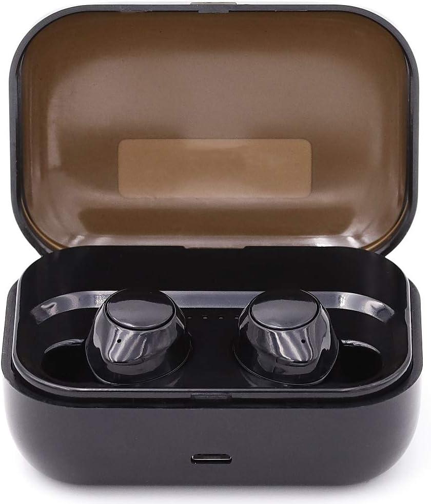 CEKA TECH® Auricular inalámbrico, Auricular Bluetooth Compatible con QILIVE Q.4725, Auriculares inalámbricos con micrófono, Auriculares inalámbricos con Estuche de Carga portátil