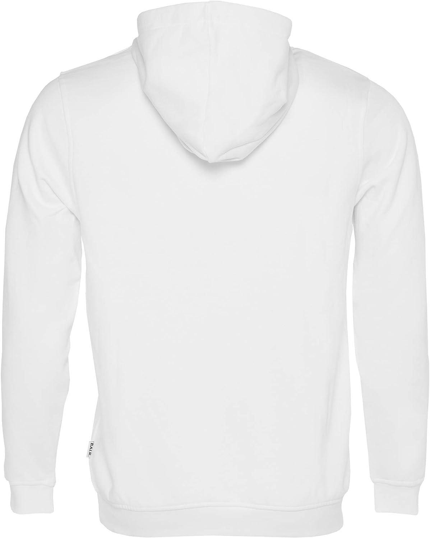 BALR. Männer Brand Hoodie mit optimaler Passform und hochwertiger weicher Baumwolle - Schwarz - Weiß - Grau - Marineblau Weiß
