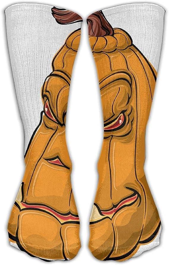 KLING Calcetines clásicos para hombres y mujeres Calabaza Dibujos animados de Halloween Calcetines atléticos Calcetines largos Talla única 30 cm: Amazon.es: Ropa y accesorios