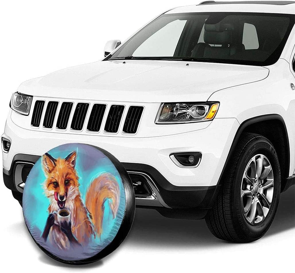 Delerain African Girl Spare Tire Covers for RV Jeep Trailer SUV Truck and Many Vehicle Wheel Covers Sun Protector Waterproof, 14 Inch for Diameter 23-27